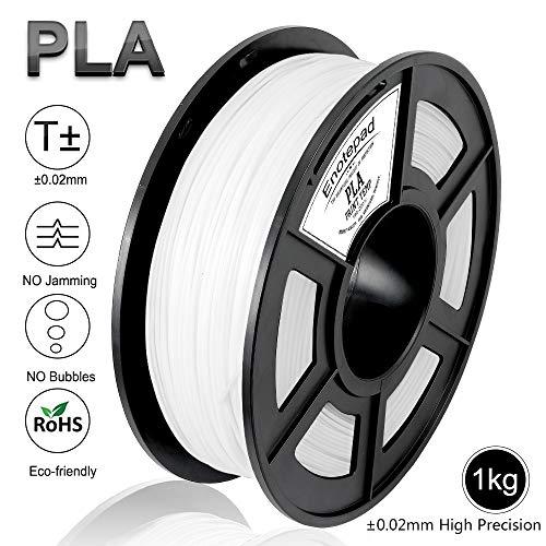 Enotepad pla biancofilamento,filamentiperstampanti3d,precisionedimensionale+/-0,02mm,1kg/bobina,1,75mm,filamentoecologicoadattoperstampante3d/pennaperstampa3d(bianco)