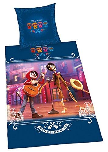 Herding Bettwäsche- Set Disney's Coco Baumwolle Mehrfarbig 135 x 200/80 x 80 cm