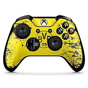 DeinDesign Skin kompatibel mit Microsoft Xbox One X Controller Aufkleber Folie Sticker Borussia Dortmund BVB Fanartikel