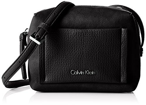 Calvin Klein Jeans Damen Lana Mini Crossover Umhängetaschen, Schwarz (Black 001 001), 17x13x7 cm