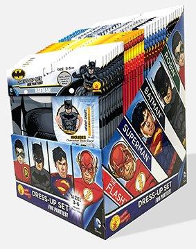 Kostüme Kind Vor Vorsicht Batman Dem (DC Boys Party Pack mit 36 sortierten Batman, Superman, Flash und Robin Dress Ups für)