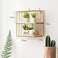 Nordic Wrought Iron Storage Rack Living Room Dining Room bar Wall Hanging Decoration