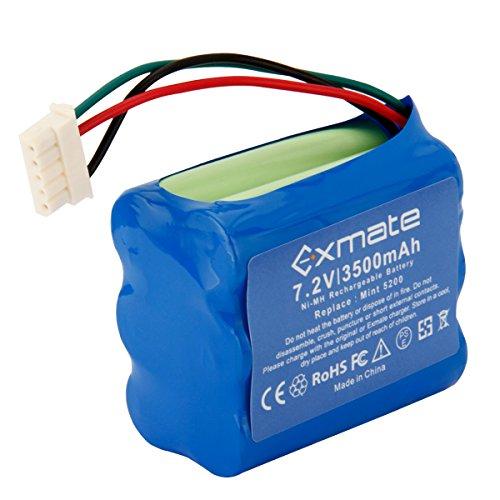 Exmate 7,2V 3500mAh Ni-MH Ersatzbatterie für iRobot Braava 380 380T Mint 5200 5200B 5200C