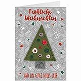 Knopfkarte für Weihnachtsgrüße - X-mas - Fröhliche Weihnachten - 15