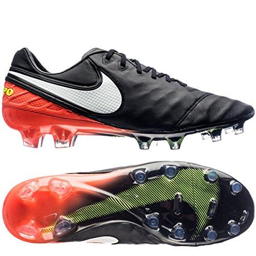 Nike Herren 819177-018 Fußballschuhe Schwarz (Black/White/Hyper Orange/Volt)