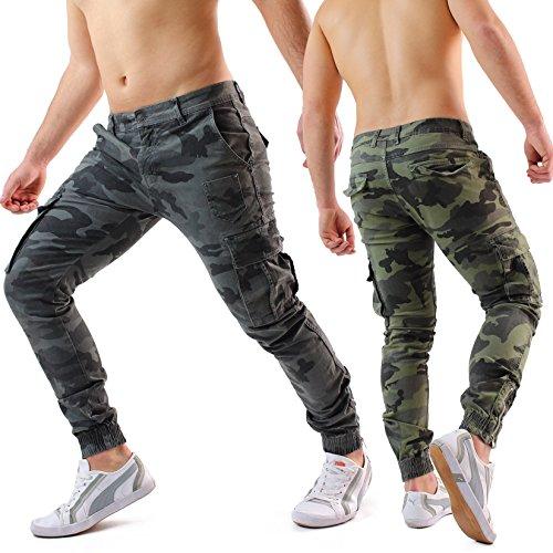 ef7d0fb7f2 Pantaloni uomo cargo jeans mimetici militari primavera estate ...