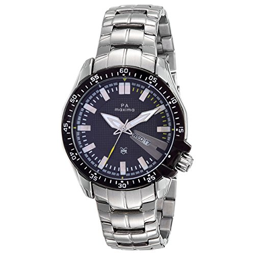 Maxima Attivo Day-Date Black Dial MEN -37982CAGI