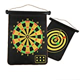 Creing Magnetic Dartboard Sets Double Sided Bullseye Safety Dart Board Game Kids Family