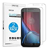 OMOTON Moto G4 Plus Screen Protector, Moto G Plus 4th Generation Tempered Glass Screen Protector with [Premium Clarity] [Scratch-Resistant] [No-Bubble Installation], Lifetime Warranty [Pack of 2] ¡­