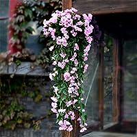 Fiore di emulazione Fiori artificiali Soggiorno parete Flower Home Decor trascorrere 1 fascio + cesto di parete,D