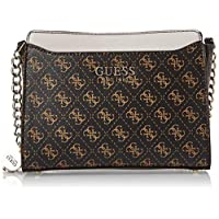 Guess Womens Cross-Body Handbag, Brown - SG767114