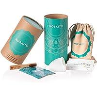 Deluxe Menstruationstasse Moskito aus medizinischem Silikon, Menstruationskappe inkl. Natur Reinigungsbürste, Beutel & Geschenkbox (Größe A)