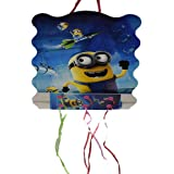 Partysanthe Pinata Minions/Minnions Print Pull String Pinata Small For Birthday Party/Party Pinata / Goodies Bag