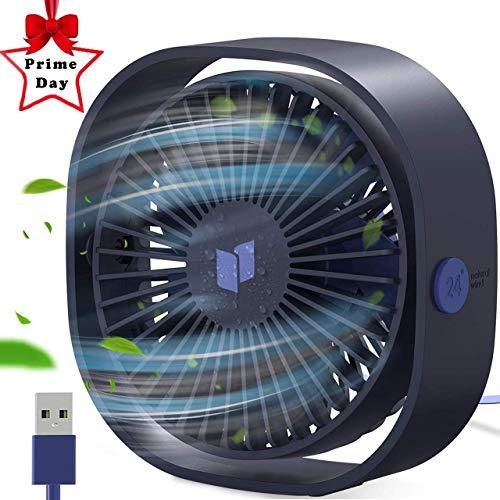 Ventilador USB,Gifort Mini Ventilador Silencioso ,Operación Silenciosa con 3 Velocidades Para,Para Hogar y Oficina o Viaje Portátil Mini Fan -(Azul)