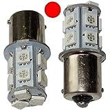 AERZETIX: 2 x Bombillas P21W R5W R10W 12V 13LED SMD rojo base de 1156