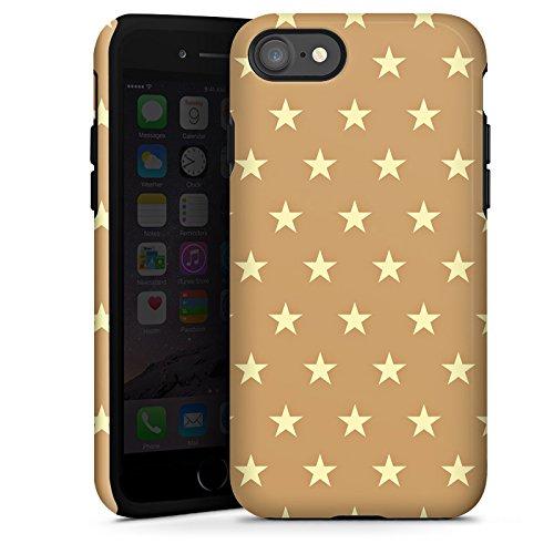 Apple iPhone X Silikon Hülle Case Schutzhülle Sternchen Muster Polska Tough Case glänzend