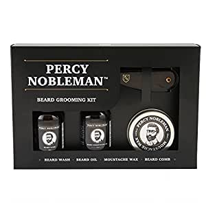 beard grooming kit by percy nobleman a beard oil wash wax comb gift set for men. Black Bedroom Furniture Sets. Home Design Ideas