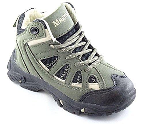 Jovens Sapatos Tornozelo Ao Ar Livre Gr.27-34 -47-0502 Cáqui