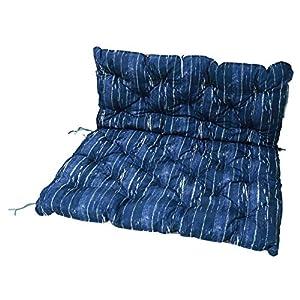 HOMECALL Palettensitzkissen, 3D-Druck, beidseitig verwendbar, 120 x 140cm, Blau/Braun