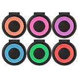 Anself - Coloración temporal para cabello,6 colores (púrpura/verde/rosa/naranja/azul/rojo)