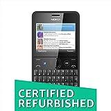 (CERTIFIED REFURBISHED) Nokia Asha 210 (Dual SIM, Black)