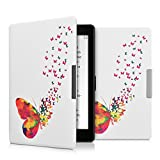 kwmobile Elegante borsa di ecopelle per il > Kobo Aura ONE < in Design stormo farfalle multicolore fucsia bianco - kwmobile - amazon.it