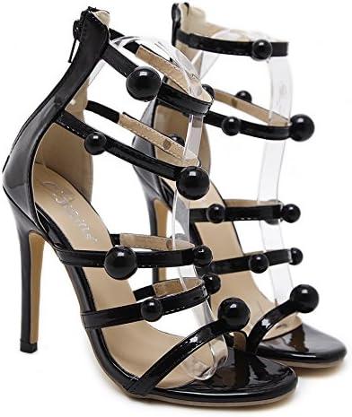 Tacones altos de las mujeres, sandalias de la manera del verano zapatos ocasionales respirables Zapatos atractivos...