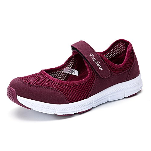 Anokar Scarpe Sportive Donna Estivi Corsa Ginnastica Trail Sneakers Basse Fitness Flats Casual Scarpe Comode Nero Grigio Rosa 35-42 RD38