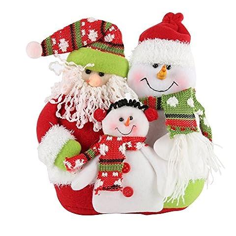 PanDaDa Weihnachtsfamilien Porträt Flanell Rag Puppe Weihnachtsmann Schneemann hängende Verzierungen WeihnachtsParty Festival Baum Dekor