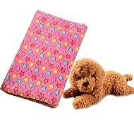 a-nam 80x 100,1cm épaissir couverture pour animal domestique, Super Doux en polaire pour chien chat lit Tapis Motif floral, mignon chiot Coussins