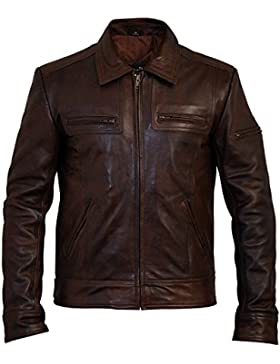 Men's Lynch Vintage Brown Leather Jacket