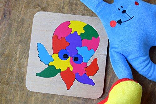 Tintenfisch Krake Puzzle Montessori Kleinkind Spiel Baby