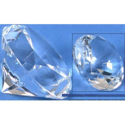 Findingking Lot Cristal Diamant Showcase présentoirs Bijoux Fixation 80 mm