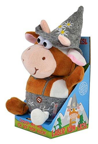 Kögler 75624 - Laber-Kuh Liesl mit traditioneller Kleidung, die alles nachplappert-Plüsch -