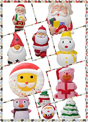 Nysunshine 11-teiliges Weihnachtsdekorations- und Dekompressions-Spielzeug, Geschenk-Sets