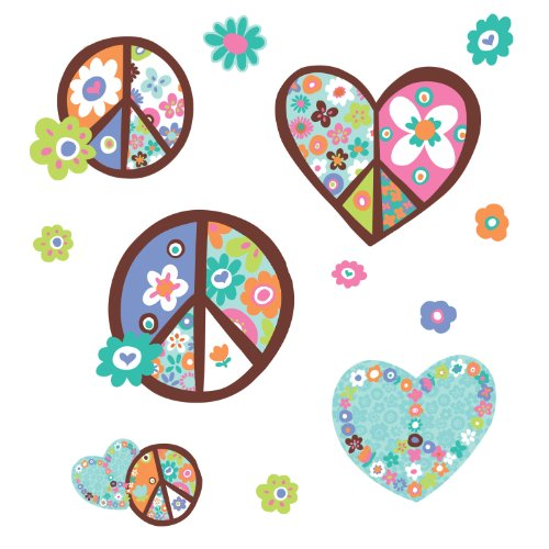 roommates-rmk1621gm-hearts-peace-adesivi-decorativi-per-parete