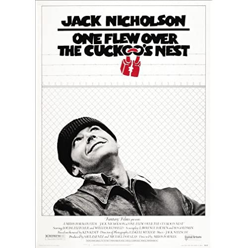 One flew over the cuckoos nest movie film a4 poster print picture 260gsm satin photo paper