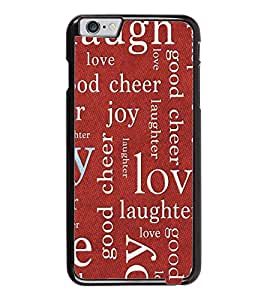 PrintDhaba Typography D-5467 Back Case Cover for APPLE IPHONE 6 (Multi-Coloured)