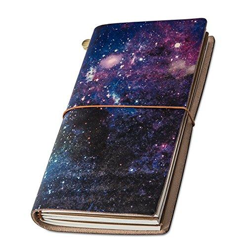 Taccuino Pelle, 'UNIVERSE' Quaderno Pelle Perfetto per La Scrittura Migliore Regalo Taccuino in Pelle & Quaderno Vintage, 22 x 11cm