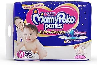 MamyPoko Medium Size Baby Diapers (56 count)