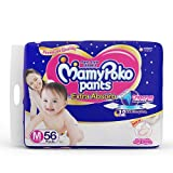 Mamypoko Extra Absorb Pant Baby Diapers, M 56 Pieces