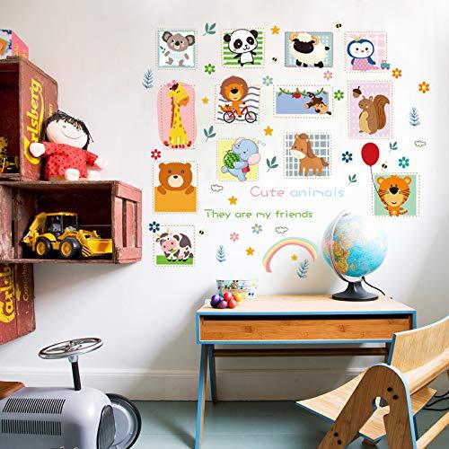 Niedliche Tiere Kleben Beiläufig Kinderzimmer Geheimnis Schlafzimmer Wandpaste Schrank Kühlschrank Mit Der Herzpaste 60X90Cm