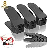 Réglable à Chaussures, Chaussure Organisateur Space Saver Rack Stockage Chaussures Support Durable Shoe Stacker Holder, 8PCS (Nior)