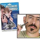 MIK Funshopping Mini Klappkamm MUSTACHE COMBS für den Schnurrbart