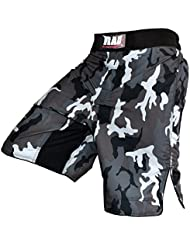 RAD-mMA grappling kampfshorts le kickboxing short de boxe muay thai short cage fight mixte-camouflage camouflage arts pantalon gris