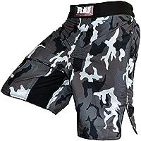 Pantalones cortos Rad, para boxeo, artes marciales mixtas, Grappling, UFC, Kick Boxing, Muay Thai camuflaje gris, para hombre, hombre, color multicolor, tamaño XXXX-Large