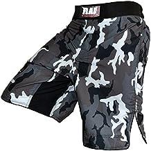 Rueda de MMA grappling-luchar contra cortocircuitos de lucha cortos de Muay Thai en una jaula de pantalones cortos de lucha de camuflaje, Unisex-camuflaje Arts pantalones, colour gris, hombre, color , tamaño XL