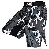 Unbekannt Rad MMA Kampfsport-Shorts/Shorts für Kickboxen, Muay Thai, Cage-Fighting/Tarnmuster, Kampfsport-Hose, Camouflage, grau, Herren