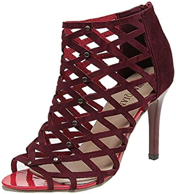 Vovotrade® Mode Féminine Peep Toe Hauts Talons Hauts Toe Chaussures Rivet RoFemme Gladiator  sB07CCMTTSMParent 96e6d6