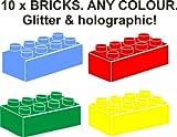 10 x LEGO-Bausteine für eine grenzüberschreitende Wandtattoo vinyl decal. alle Farben. lime